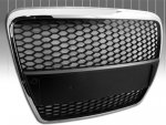 C6 Chrome Surround Honeycomb Mesh Grille for Audi A6 2005-2010