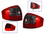 Red and Smoked LED Tail Lights for Audi A6 1998-2004