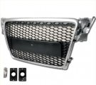 B8 Silver Black Mesh Grille for 09-10 Audi A4
