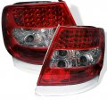 B5 Red Clear LED Tail Lights for 96-01 Audi A4