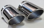 8R Perforated Insert Polished Exhaust Tips for Audi Q5 2010-2011