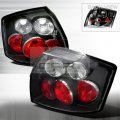 B6 Black Euro Style Tail Lights for 02-05 Audi A4