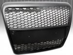 C6 Black Badgeless Honeycomb Mesh Grille for Audi A6 2005-2010
