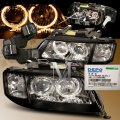Black Halo Projector Headlights for Audi A6 1997-2001