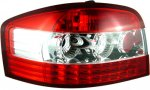 8L Euro Crystal Red Clear Tail Lights for Audi S3 A3 1996-2005