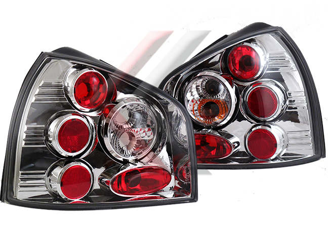8L Chrome Euro Altezza Tail Lights for 96-02 Audi A3